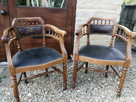 Two matching desk chairs