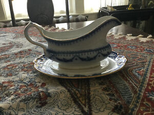 FURTHER REDUCED! Antique gravy boat for sale