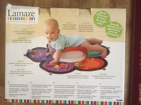 Time Play Mat Lamaze Spin & Explore Garden Gym Baby Tummy Time Play Mat Boxed