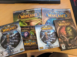 World of Warcraft disks and manuals