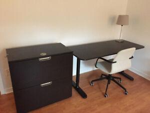 Bureau, classeur et chaise IKEA