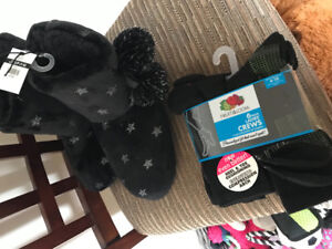 Brand new ladies slippers and socks