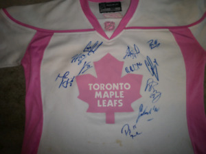 Autographed Leafs Jersey
