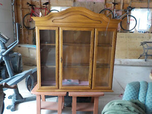 Oak display cabinet shelf