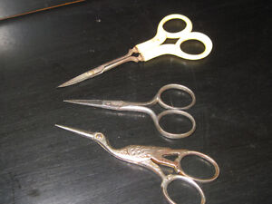 3 Pairs of Antique Embroidery, Sewing, Infant Scissors for Sale