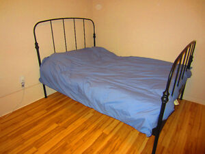 Double Bed Frame (with slats)! Excellent Condition!
