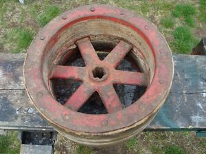 VINTAGE EARLY 1900'S WOOD FACTORY PULLEY