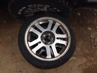 "2 17"" aluminum mustang rims for sale!!!"
