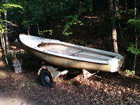 For Sale; Albacore sailboat, c/w trailer & sails