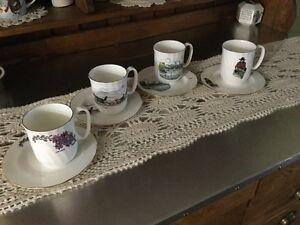 Yukon collector China Mugs & Matching plates