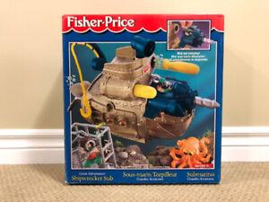 Fisher   Price Great Adventures Shipwrecker Sub NEW  RARE