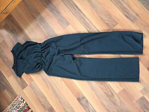 Zara woman's green short sleeve jumpsuit