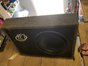 Alpine Sub with Clarion Amp