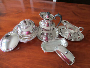 10 piece silver plate items