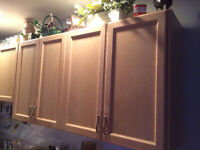 COMPLETE KITCHEN CABINETS, SINK, FAUCET and COUNTERTOPS