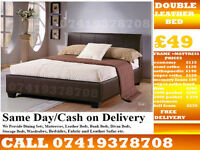 Single, Double and King Size Leather Base/ Bedding