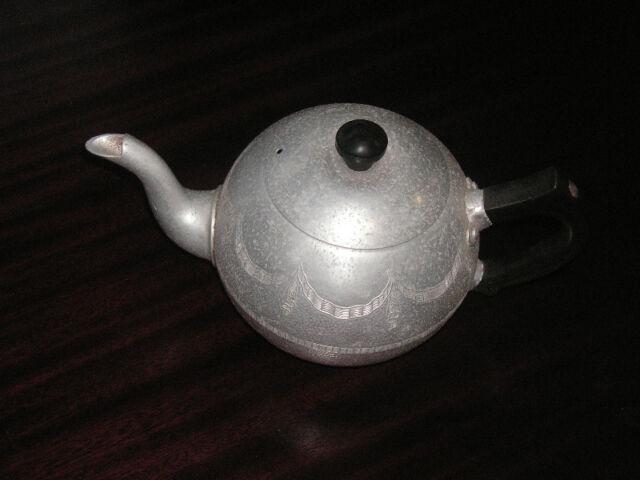 Antique Aluminium Teapot Swan Brand England Antiques