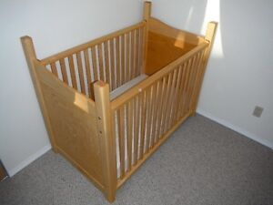 Hand made crib, solid maple