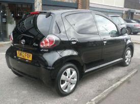 2012 Toyota AYGO 1.0 ( 67bhp ) AYGO Fire 5DR 62 REG Petrol Black