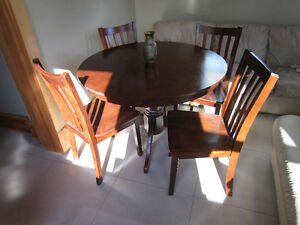 """42"""" dining room table with 4 chairs"""