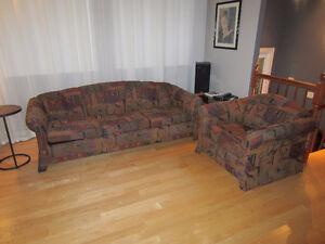 Sofa et fauteuil de salon