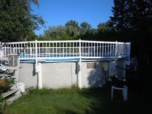 24' privacy railing for above ground pool