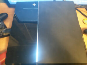 Used 500 GB Playstation 4 with special edition blue controller