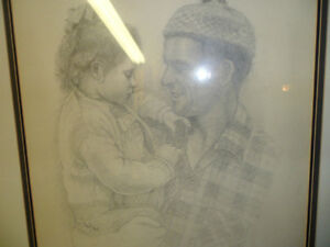 Father and Daughter by M Hall Original $200 . Not a print. Prince George British Columbia image 4
