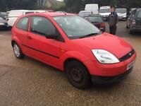 2004 Ford Fiesta 1.25 Finesse petrol manual in red