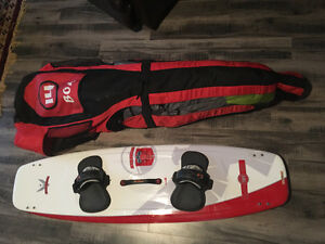 Kiteboarding kite + board