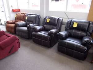 Large selection of new recliners. $299 and up.