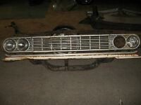 64 CHEVELLE FRONT RAD CRADLE AND GRILL