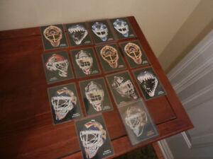 NHL Sports cards Pinnacle Goalie Masks Various Lot of 14