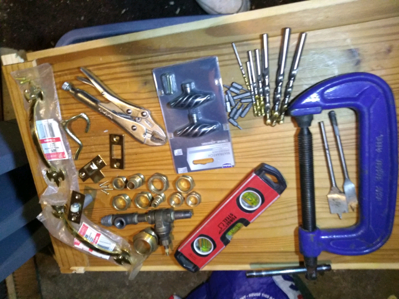 Various items mini level,g clamp drill bits etc for sale  Brandon, Suffolk