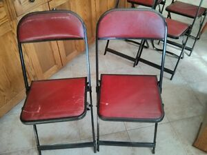 Vintage COOEY Folding Card Table with Chairs (7) Windsor Region Ontario image 5