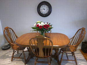 Solid Oak Dining Table and Buffet