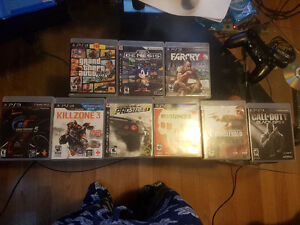 bunch of ps2 and ps3 games for sale, message with offers