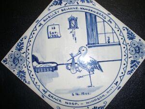 hand painted ceramic tiles - Grace Hospital Windsor Region Ontario image 1