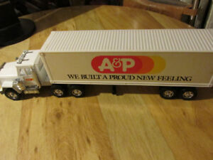 A&P A & P Toy Truck Trailer Vintage Grocer Atlantic Pacific