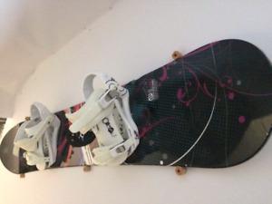 Snow board and bindings