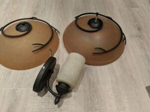 3 Interior Light Fixtures - All Work, MUST SELL!!!!