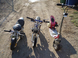 Mini bikes and scooter