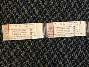 pair Rolling Stones hard copy tickets face valu May 22, Seattle