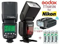 Godox TT685N 2.4G Flash Speedlight with X1T-N iTTL Trigger - Wireless Flash System for Nikon