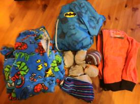 Boys clothes bundle 2-3 ys dressing grown, rain jacket, socks, briefs