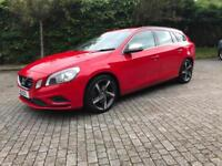 2012 Volvo V60 2.0D D3 R- Design Manual Bright Red Black Cloth/Half Leather