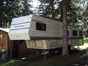 Sell or trade older 33ft Dutchman fifth wheel ideal for lake lot