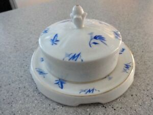 Vintage Butter/Cheese dish w/lid ~ C.T. Altwasser mark Germany
