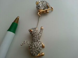 Jewellery--variety-angel pins, cat or teddy pin, necklace