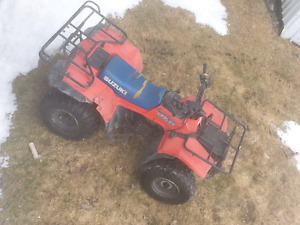 1986 250 suzuki quad turn the key and go